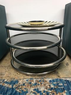 Chrome smoked glass 3 tier end table - 1004639