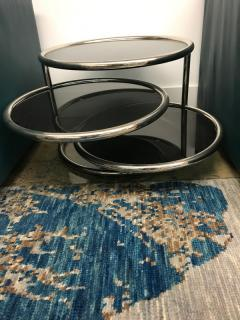 Chrome smoked glass 3 tier end table - 1004641