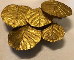 Chrystiane Charles Pair of Gilt Bronze Leaf Sconces by Chrystiane Maison - 1281148