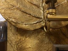 Chrystiane Charles Pair of Gilt Bronze Leaf Sconces by Chrystiane Maison - 1281157