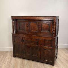 Circa 1620 James I Oak Paneled Cupboard England - 1902739
