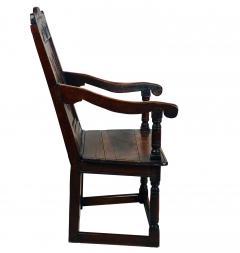 Circa 1680 Charles II Oak Armchair - 2136049