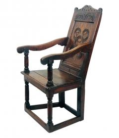Circa 1680 Charles II Oak Armchair - 2136051