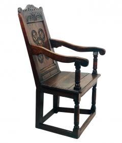 Circa 1680 Charles II Oak Armchair - 2136052