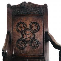 Circa 1680 Charles II Oak Armchair - 2136055