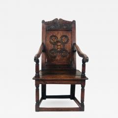 Circa 1680 Charles II Oak Armchair - 2138955