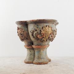 Circa 16th Century Portuguese Carved Baroque Column Capital - 2073127