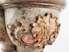 Circa 16th Century Portuguese Carved Baroque Column Capital - 2073134