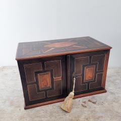 Circa 1720 Continental Mixed Wood Collectors Cabinet - 2134322