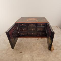 Circa 1720 Continental Mixed Wood Collectors Cabinet - 2134323