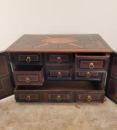 Circa 1720 Continental Mixed Wood Collectors Cabinet - 2134324
