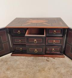 Circa 1720 Continental Mixed Wood Collectors Cabinet - 2134325