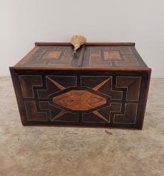 Circa 1720 Continental Mixed Wood Collectors Cabinet - 2134329