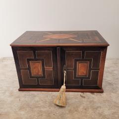 Circa 1720 Continental Mixed Wood Collectors Cabinet - 2134332