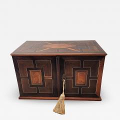 Circa 1720 Continental Mixed Wood Collectors Cabinet - 2134674