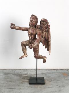 Circa 1750 Silver Gilt Angels India A Pair - 1877436