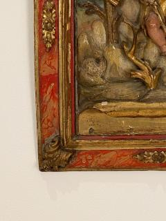 Circa 1750 Spanish Polychrome Wood Carving of St John - 2031895