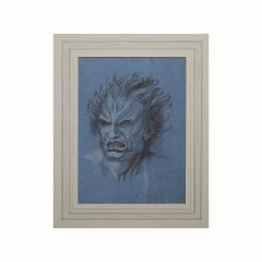 Circa 1800 Baroque Drawing of A Furry - 2139370
