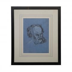 Circa 1800 Baroque Drawing of An Older Man Italy - 2132570