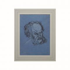 Circa 1800 Baroque Drawing of An Older Man Italy - 2132571