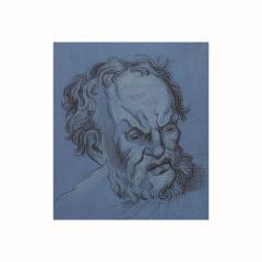 Circa 1800 Baroque Drawing of An Older Man Italy - 2132572