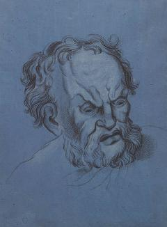 Circa 1800 Baroque Drawing of An Older Man Italy - 2133334