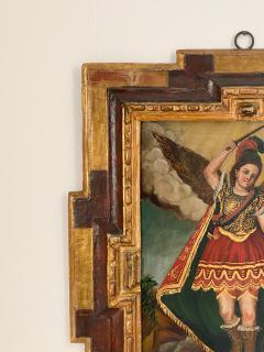 Circa 1800 Spanish Colonial Painting of Archangel Demon - 2019400