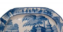 Circa 1820 Large Blue and White Platter in the Chinese Style England - 2135594