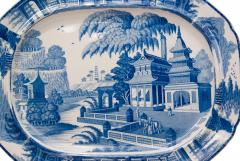 Circa 1820 Large Blue and White Platter in the Chinese Style England - 2135595