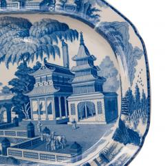 Circa 1820 Large Blue and White Platter in the Chinese Style England - 2135596