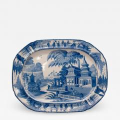 Circa 1820 Large Blue and White Platter in the Chinese Style England - 2138952