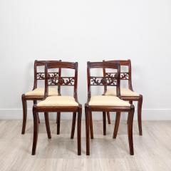 Circa 1820 Regency Period Mahogany Chairs England Set of 4 - 2141258