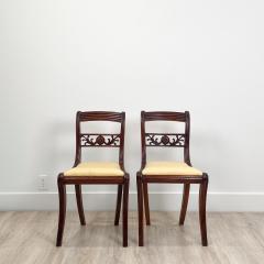 Circa 1820 Regency Period Mahogany Chairs England Set of 4 - 2141261