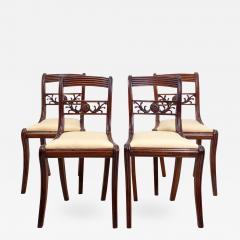 Circa 1820 Regency Period Mahogany Chairs England Set of 4 - 2144660