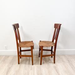 Circa 1820 Tole Panel Chairs A Pair - 2007238