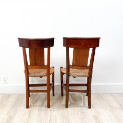 Circa 1820 Tole Panel Chairs A Pair - 2007239