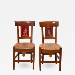 Circa 1820 Tole Panel Chairs A Pair - 2010035