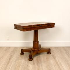 Circa 1825 Rosewood Pedestal Regency Game Table England - 2005994