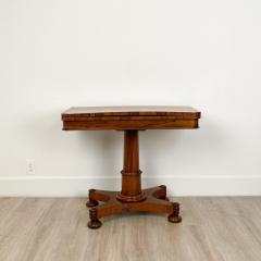Circa 1825 Rosewood Pedestal Regency Game Table England - 2005996
