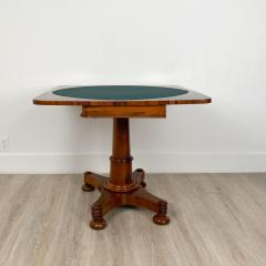Circa 1825 Rosewood Pedestal Regency Game Table England - 2006005