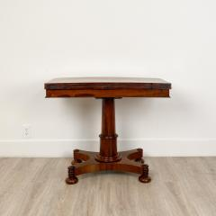 Circa 1825 Rosewood Pedestal Regency Game Table England - 2006006