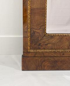 Circa 1830 Italian Burl Walnut and Gilt Pier Mirror Large - 2022057