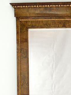 Circa 1830 Italian Burl Walnut and Gilt Pier Mirror Large - 2022058