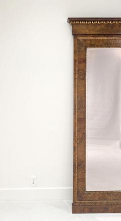 Circa 1830 Italian Burl Walnut and Gilt Pier Mirror Large - 2022061