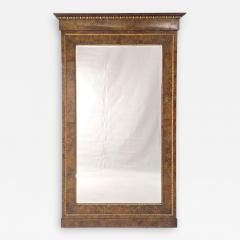 Circa 1830 Italian Burl Walnut and Gilt Pier Mirror Large - 2023432
