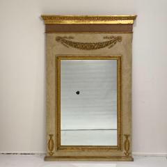 Circa 1830 Large Neoclassical Painted and Giltwood Mirror - 1830630