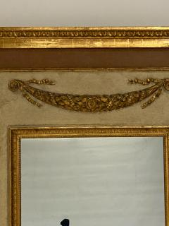 Circa 1830 Large Neoclassical Painted and Giltwood Mirror - 1830631