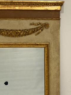 Circa 1830 Large Neoclassical Painted and Giltwood Mirror - 1830632