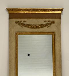 Circa 1830 Large Neoclassical Painted and Giltwood Mirror - 1830633
