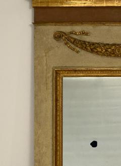Circa 1830 Large Neoclassical Painted and Giltwood Mirror - 1830634
